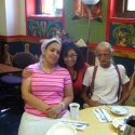 """Angela among friends during """"Tea Time"""" on her last day"""