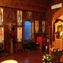 The beautiful interior of the Mission Chapel dedicated to St Silouan the Athonite